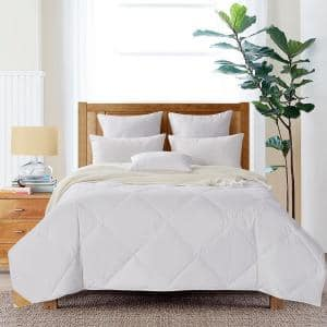 Summer Weight White Full/Queen 50% White Goose Down Quilted Comforter