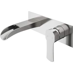 Cornelius Single-Handle Wall Mount Bathroom Faucet in Brushed Nickel