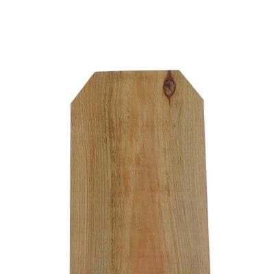 3/4 in. x 11-1/2 in. x 5 ft. FSC Construction Common Redwood Dog-Ear Fence Picket
