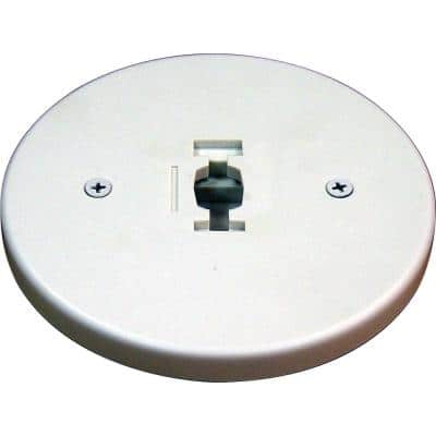 White Monopoint Canopy for Compatible Volume Lighting Track Heads