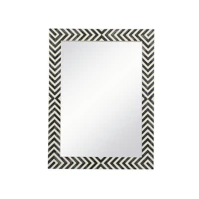 Medium Rectangle Chevron Contemporary Mirror (32 in. H x 24 in. W)