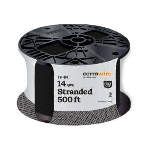 500 ft. 14/19 Black Stranded THHN Cable