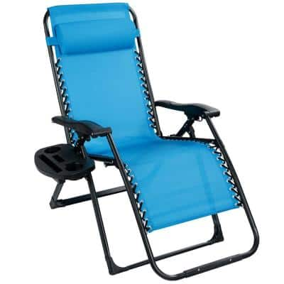 Oversize Folding Metal Outdoor Recliner