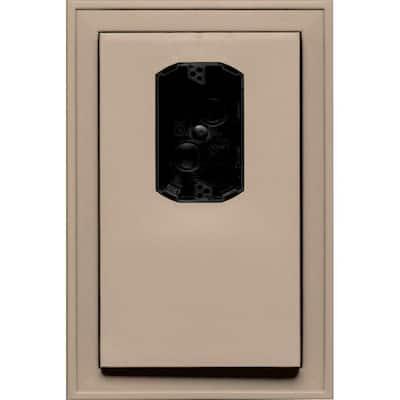 8.125 in. x 12 in. #023 Wicker Jumbo Electrical Mounting Block Offset