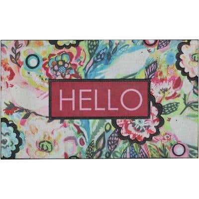 Soulful Birds 18 in. x 30 in. Doorscapes Mat