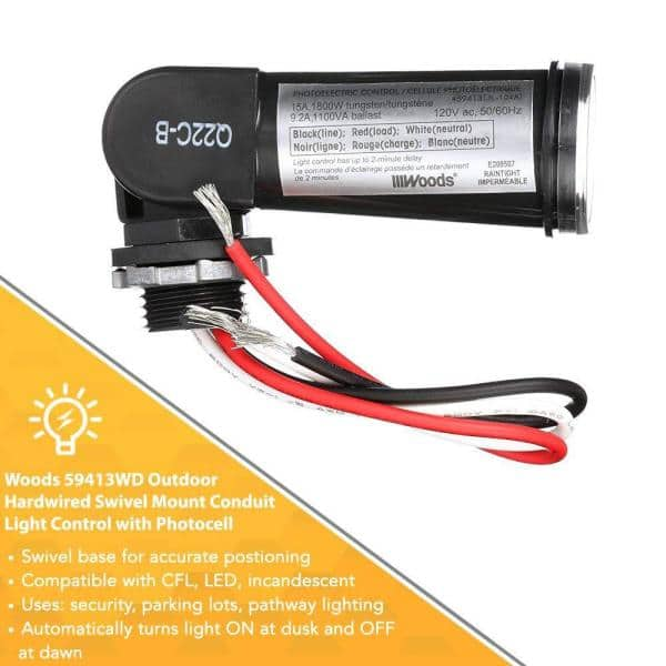 LED 120V Dusk To Dawn Outdoor Swivel Photo Cell Light Control Photocell Sensor