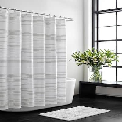 72 in. x 70 in. Irregular Stripe Shower Curtain