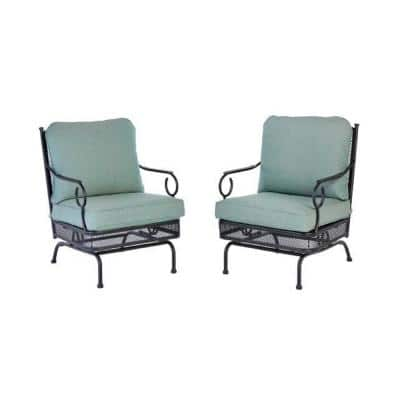Amelia Springs 3-Piece Metal Patio Conversation Set with Spa Cushions