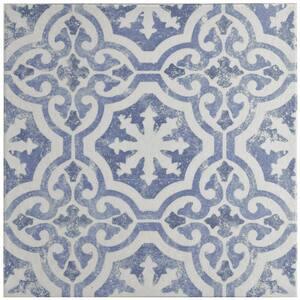 Klinker Alcazar Magnolia Encaustic 12-3/4 in. x 12-3/4 in. Ceramic Floor and Wall Quarry Tile
