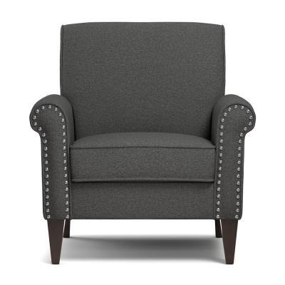 Jean Charcoal Gray Linen Arm Chair