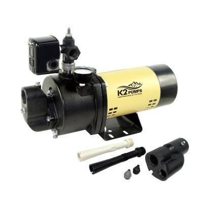 3/4 HP 20 GPM Convertible Jet Pump