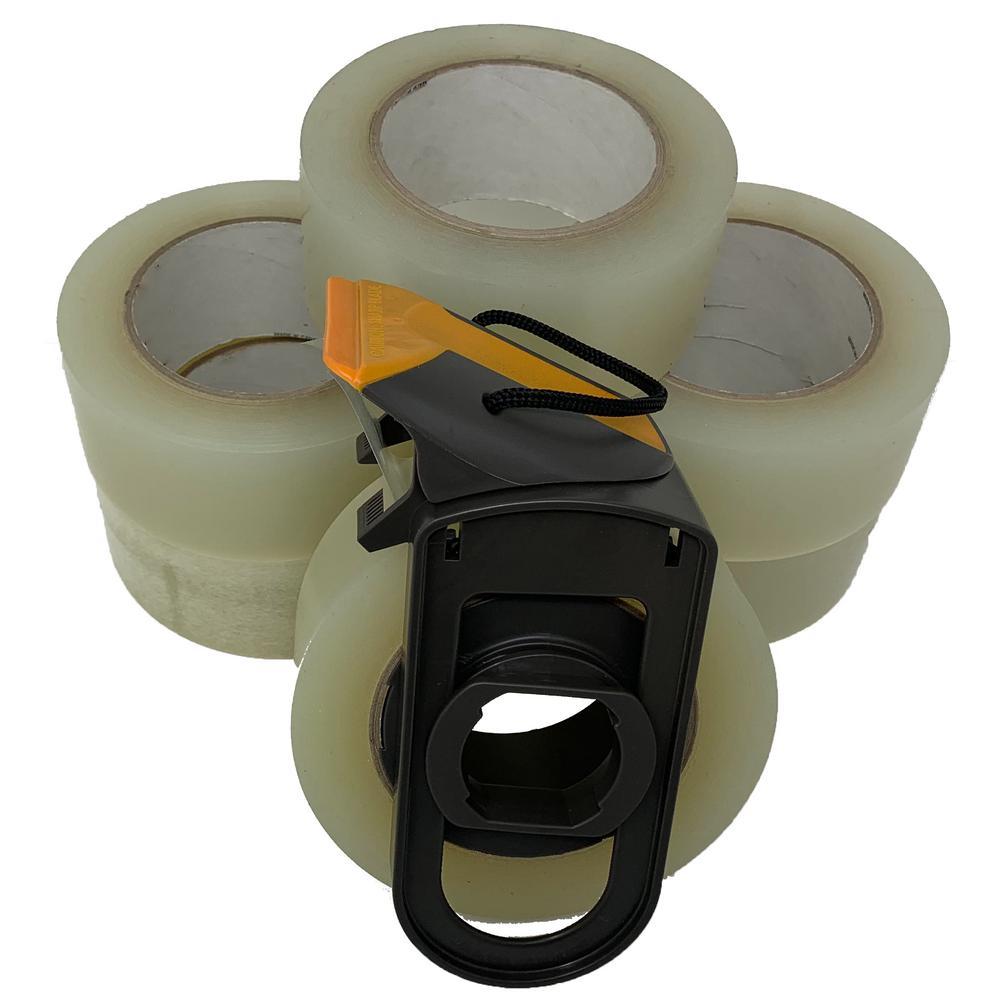 Tape Tearer 2 in. Tape Dispenser with 6 Rolls of Tape