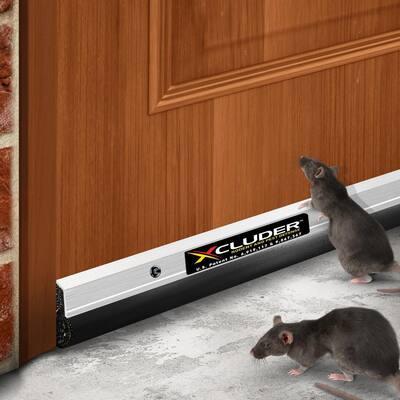 36 in. Residential Rodent Proof Door Sweep Aluminum