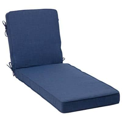 22 in. x 25 in. Oceantex Deep Marine Outdoor Chaise Lounge Cushion
