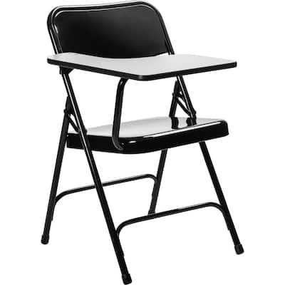 5200 Series Black Tablet Arm 18-Gauge Steel Folding Chair Grey Nebula Right Arm Chair (2-Pack)
