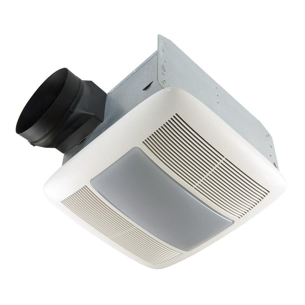 Broan Nutone Qt Series Quiet 150 Cfm Ceiling Bathroom Exhaust Fan With Light And Night Light Energy Star Qtxen150flt The Home Depot