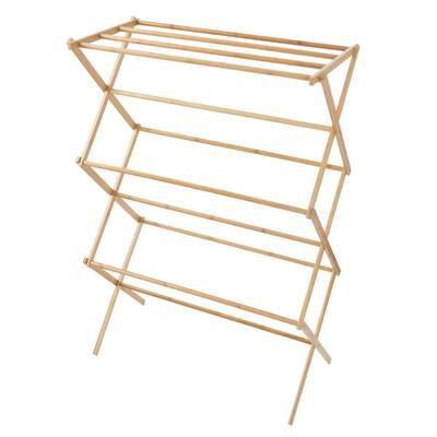 14.25 in. x 27.5 in. Bamboo Wooden Garment Rack