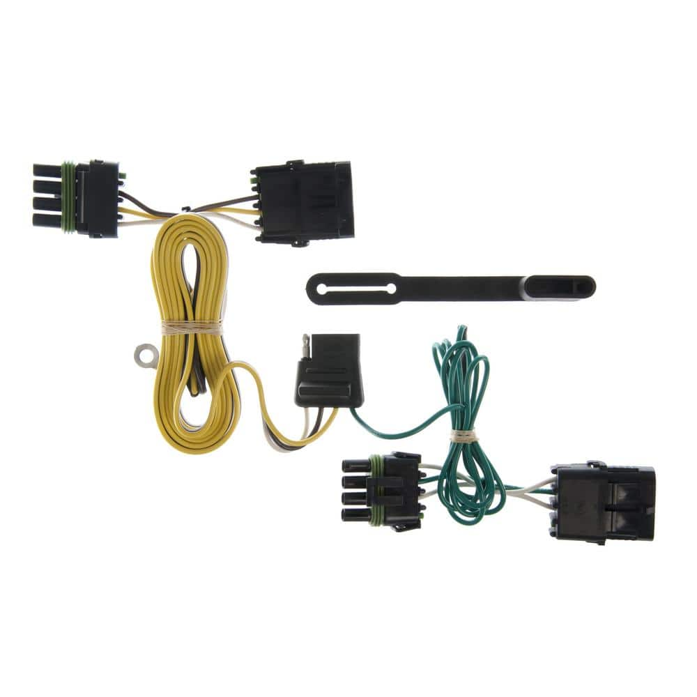CURT Custom Vehicle-Trailer Wiring Harness, 4-Way Flat Output, Select Jeep  Wrangler TJ, Quick Electrical Wire T-Connector-55356 - The Home DepotThe Home Depot