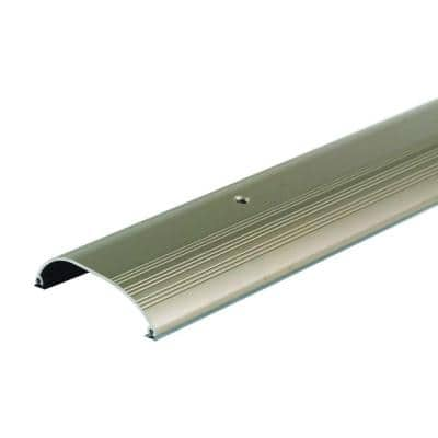 High Dome Top 4 in. x 36 in. Satin Nickel Aluminum Threshold