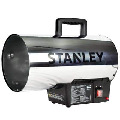 60,000 BTU Forced Air Propane Outdoor Space Heater with Push-Button Ignition