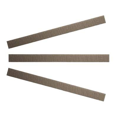 Vitre Beige 1 in. x 15 in. Glass Pencil Tile Trim (3-Pack)