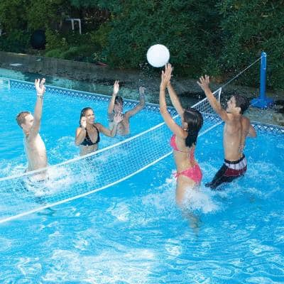 Cross-Pool Water Volleyball Game