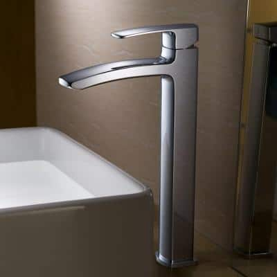 Fiora Single Hole 1-Handle Vessel Bathroom Faucet in Chrome