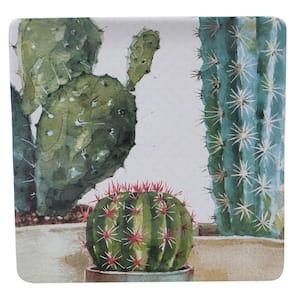 Cactus Verde Ceramic Square Platter
