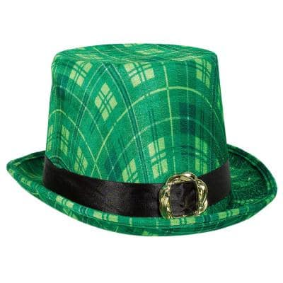 Green Plaid St. Patrick's Day Top Hat