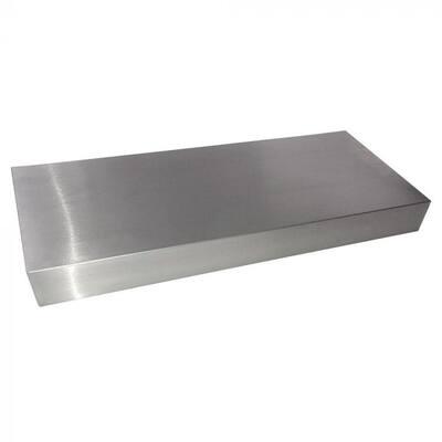 30 in. x 10 in. x 2-1/2 in. Stainless Steel Floating Shelf Kit