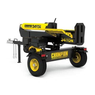 34 Ton 338 cc Gas Powered Hydraulic Wood Log Splitter with Vertical / Horizontal Operation and Auto Return