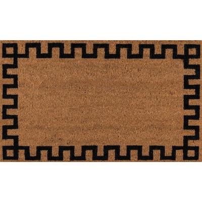 Greek Key Natural 1 ft. 6 in. x 2 ft. 6 in. Doormat
