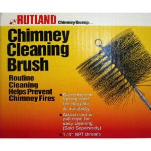7 in. x 11 in. Rectangular Wire Chimney Brush, 1/4 in. NPT