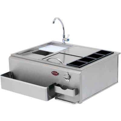 30 in. Built-In BBQ Stainless Steel Bar Center