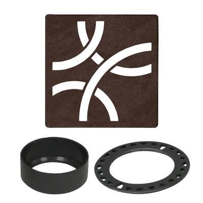Kerdi-Drain 4 in. Bronze Curve Drain Grate
