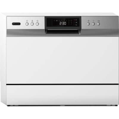 21 in. White Digital Portable 115120-volt Dishwasher with 6-Cycles with 6-Place Settings Capacity