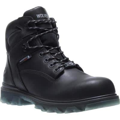 I-90 EPX Men's 6 inch Work Boots - Leather Composite-Toe - Black 9.5(M)