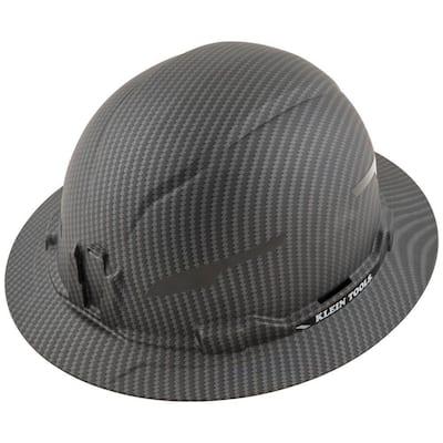 Non-Vented Full Brim Premium KARBN Hard Hat Class E