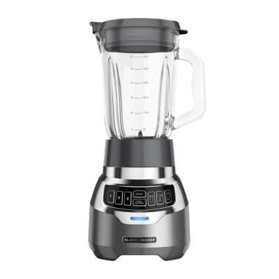 PowerCrush 48 oz. 3-Speed Silver Digital Blender with Travel  Cup