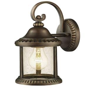 Cambridge Collection 1-Light Essex Bronze Outdoor Medium Wall Mount Lantern