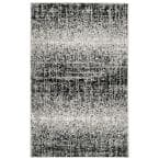 Adirondack Silver/Black 3 ft. x 4 ft. Solid Gradient Area Rug