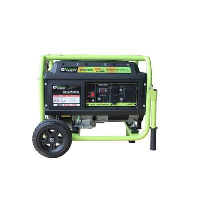 5250-Watt/4750-Watt Dual Fuel Gasoline/Propane Powered Portable Generator, 223cc LCT Professional Engine