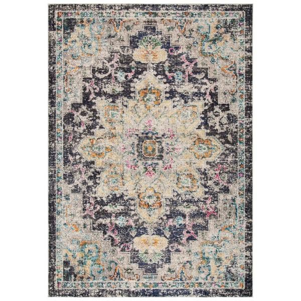 Safavieh Madison Black Gold 8 Ft X 10 Ft Area Rug Mad473z 8 The Home Depot