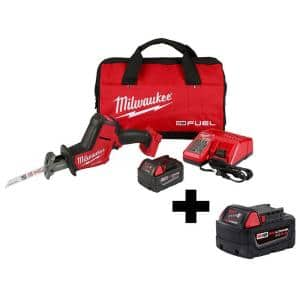 M18 FUEL 18-Volt Lithium-Ion Brushless Cordless HACKZALL Reciprocating Saw Kit W/ M18 5.0Ah Battery