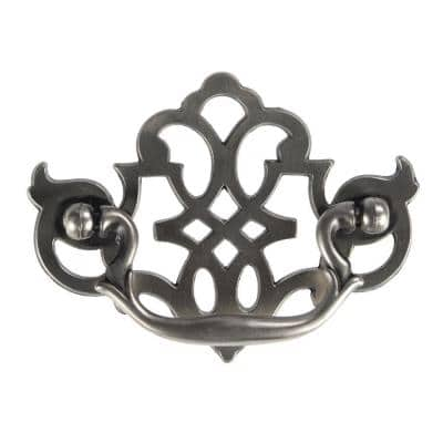 3 in. Center-to-Center Silver Stone Furniture Bail Pull
