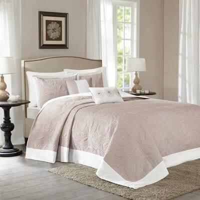 Stanton 5-Piece Khaki Queen Reversible Bedspread Set