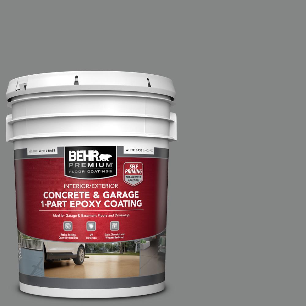 5 gal. #PFC-63 Slate Gray Self-Priming 1-Part Epoxy Satin Interior/Exterior Concrete and Garage Floor Paint