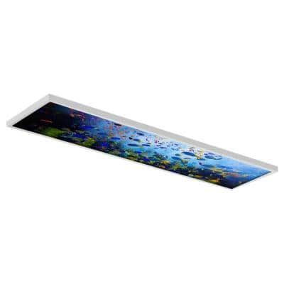 Ocean 001 1 ft. x 4 ft. Flexible Decorative Light Diffuser Panels Ocean for Classrooms and Offices