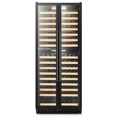 LP328D - 287 Bottle Black 2 Door Dual Zone Wine Refrigerator