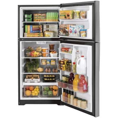 19.2 cu. ft. Top Freezer Refrigerator in Stainless Steel